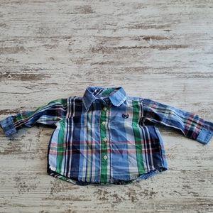 Boys Chaps button shirt size 3 months